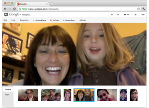 Online video conferencing using Google Hangouts